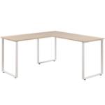 Оригинал Merax MF189576AAD L-образный офисный стол 59 дюймов Компьютерный стол Угловой стол Домашний офис ПК Деревянный ноутбук Стол Учебный стол