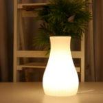 Оригинал Аккумуляторная Colorful LED Wi-Fi APP Control Night Light Smart Table Лампа Ваза Декор Форма Совместимо с Alexa Google Home