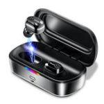 Оригинал BaseusW01TWSБеспроводнаясвязьBluetooth 5.0 Наушник HiFi 6D стерео DSP с шумоподавлением для наушников с двусторонним вызовом и зарядкой 2000 мАч