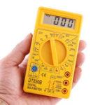 Оригинал ALL SUN DT830B 1000 В 10A LCD Портативный Цифровой Мультиметр AC / DC Амперметр Вольтметр Омметр Электрический Тестер