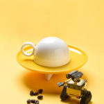 Оригинал XIAOMIKISSKISSFISHНЛОЛетающий стек Набор чашек Creative Fun Home Drinking Набор Керамический Набор чашек с Пластина