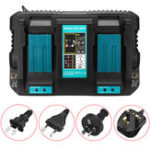Оригинал Dual Twin Port Battery Charger For Makita DC18RD Li-ion LXT 7.2V-18V Fast Rapid