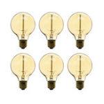 Оригинал 6 ШТ. Затемнения AC220V G80 E27 40 Вт теплый белый лампы накаливания для внутреннего украшения дома