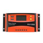 Оригинал 30A 12V / 24V PWM Солнечная Панель Батарея Регулятор Контроллер заряда LCD Dual USB