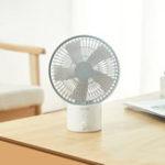 Оригинал XiaomiSmartFrog8-дюймовыйнастольныйUSB-вентилятор, вращающийся на 120 ° 8 режимов Скорость ветра Вентилятор охлаждения На открытом воздухе Travel