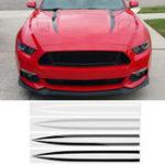 Оригинал 2 ШТ. Внешний Капот Полосы Авто Наклейки Наклейка Наклейка Для Ford Mustang 2015-2017 4 Цвета