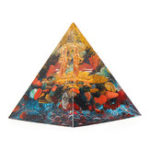 Оригинал Orgonite Pyramid Energy Chakra Multiplier Reiki Orgone Peridot And Rainbow Fluorite Healing Decorations