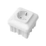 Оригинал Bakeey MXQ 10A ЕС Plug Smart WIFI Wall Outlet Разъем Коммутатор Дистанционный Контроллер Google Assistant Amazon Alexa Совместим с приложением Tuya Smart Life