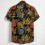 Оригинал Мужская мода Ethnic Шаблон Печатные повседневные рубашки