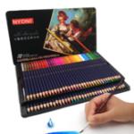 Оригинал NYONI N-2872 72-цветная акварельная краска для карандашей Утюг Коробка Упаковка для детей Практика