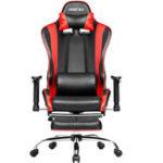 Оригинал Merax Эргономичный офисный стул Racing Gaming Chair с регулируемыми подлокотниками Высок-задний кожаный PU складной стул с подставкой для ног для дома