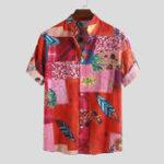 Оригинал Рубашки мужские с цветочным принтом Mens National