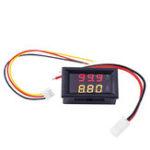 Оригинал Цифровой Вольтметр Амперметр Авто Измеритель тока Двойной Дисплей 100 В 10A Датчик постоянного тока Амперметр красный + желтый LED Тестер напр