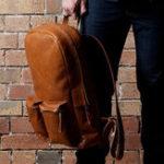 Оригинал Ekphero Men Solid Повседневный многофункциональный модный рюкзак