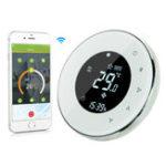 Оригинал MoesHouse BHT-6000-GBLW LCD Сенсорный экран Электрический подогрев пола Термостат Подсветка WIFI 16A Работает с Alexa Google Home