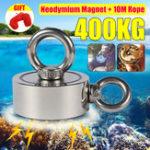 Оригинал Двусторонняя 75мм 400кг Восстановление неодима Магнит С 10м Веревка Спасение Инструмент Сильное восстановление Рыбалка Комплекты