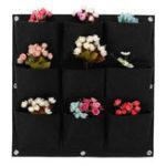 Оригинал 9-64 кармана Растение горшок цветочный горшок фетр вертикальный Сад висит черная стена Растениеers мешочек