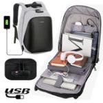 Оригинал Anti Theft Code Замок Рюкзак для ноутбука Travel Сумка с USB-портом для зарядки для ноутбуков ноутбуков планшетных ПК до 15.6