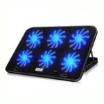 Оригинал ICE COOREL Бесшумный Кулер для ноутбука Охлаждающая подставка для ноутбука USB-радиатор с 6 вентиляторами и подсветкой LED для 12-17-дюймового ноутб