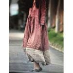 Оригинал Повседневная рубашка с длинным рукавом с длинным рукавом из хлопка макси Платье