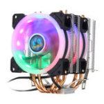 Оригинал  Aurora Colorful с подсветкой, 3-контактный, 2 вентилятора 4, Медь, Трубка Радиатор с двумя башнями, вентилятор охлаждения, радиатор охлаждения для Int