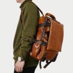Оригинал Ekphero Men Solid Повседневный многофункциональный рюкзак с клапаном для ноутбука