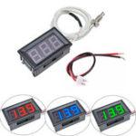 Оригинал XH-B310 Цифровой Трубка LED Дисплей Термометр Измеритель температуры 12 В K-типа M6 Тестер термопары с резьбой -30 ~ 800C Термограф