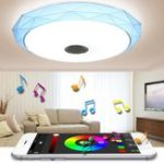 Оригинал 40см 24W LED Потолочный светильник RGB с возможностью затемнения с управлением APP Bluetooth-динамик Музыка