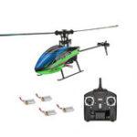 Оригинал WLtoys V911S 2.4G 4CH 6-Aixs Gyro Flybarless RC Вертолет RTF с 4шт