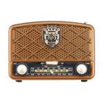 Оригинал Ретро AM 513-1629 кГц SW FM 87-108 МГц Радио AUX USB TF карта Bluetooth-динамик MP3-плеер
