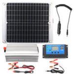 Оригинал Эффективная система Солнечная с питанием от сети, два порта USB 40 Вт, панель Солнечная, инвертор питания 2000 Вт и контроллер 10A