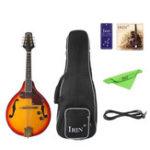 Оригинал IRIN ME-21 8 Strings Sunset Color Электрическая мандолина с маринованной / протрите тканью / 3M