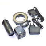 Оригинал HAYEAR HD VGA 2.0MP Цифровой промышленный микроскоп камера 100-кратный зум C-mount Объектив 144 LED Регулируемый свет