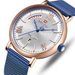 Оригинал NAVIFORCE3006MeshSteelСтандартыКалендарь Кварцевые часы