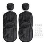 Оригинал 4шт / комплект универсальный искусственная кожа Авто переднее сиденье дышащий защитный чехол