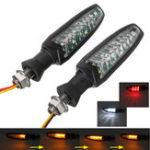 Оригинал 12V мотоцикл Последовательное течение 18 LED Указатель поворота DRL Стоп Задние фонари