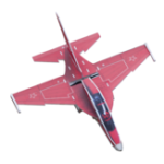 Оригинал Yak130 PP 740mm Wingspan RC Самолет Фиксированный комплект