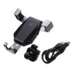 Оригинал 10 Вт Qi Беспроводное зарядное устройство Быстрая зарядка Быстрая зарядка 3,0 Гравитационное вентиляционное отверстие Авто Держатель телефо