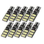 Оригинал 10PCS T10 W5W 30SMD LED Авто Боковые габаритные огни Клин лампы Лампа с 3 Flash режимами 6W 240LM Белый