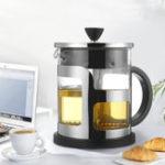 Оригинал 600 мл / 1000 мл французская пресса кофеварка плунжерное стекло из нержавеющей стали Чай горшок