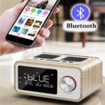 Оригинал LOCIH3BluetoothSpeakerAlarmЧасы Медиа Аудио Музыка Часы Радио USB зарядка MP3-плеер Дистанционное Управление