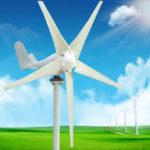 Оригинал 12V / 24V 500W 5 Лопасти Горизонтальный генератор ветровой турбины + контроллер