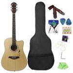 Оригинал IRIN 41 дюймов Угловая акустическая гитара для начинающих с гитарой Сумка / Pick / Strap / Pipe / Гаечный ключ / Cloth / Capo