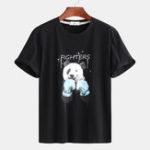 Оригинал Мужские футболки Panda с принтом летние Повседневные футболки Plus