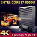 Оригинал EglobalV7MiniPCI7-8550UWin10 Quad ядро Intel HD Графика 620 16 ГБ + 128 ГБ / 16 ГБ + 256 ГБ / 16 ГБ + 512 ГБ 2 * DDR4 Msata M.2 SSD Micro PC 4K Безвентиляторный HTPC Nuc VGA HDMI