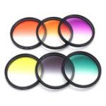 Оригинал 6 Шт. / Компл. 58 мм Окончил Цветной Фильтр Набор камера Объектив для Canon EOS 1100D 600D