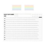 Оригинал Rosy Posy2019 / 2020 Plan Table Настенный календарь 365 календарных дней