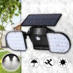 Оригинал 56 LED Солнечная Dual Head Motion Датчик Light На открытом воздухе Сад Регулируемый прожектор