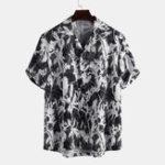 Оригинал Мужские чернильные рубашки с цветочным принтом Revere Shirts
