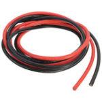 Оригинал 12AWG 3 м Датчик Силиконовый Провод Гибкий многожильный черный / красный Медь Кабель F / RC